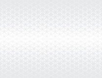 Abstract sacred geometry gray gradient flower of life halftone subtle pattern. Background Royalty Free Stock Image