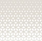 Abstract sacred geometry gray grid halftone cubes pattern. Background stock illustration