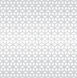 Abstract sacred geometry gray grid halftone cubes pattern. Background royalty free illustration