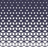 Abstract sacred geometry purple grid halftone cubes pattern. Background royalty free illustration