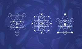 Abstract sacred geometry symbols set Stock Photos