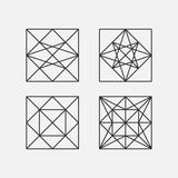 Abstract Sacred Geometry. Vector Illustration. Stock Images