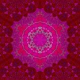 Abstract sacred lotus tile mandala in grenadine. Abstract sacred lotus tile mandala Stock Photo
