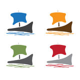 Abstract sail ship icon vector design Stock Images