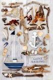 Abstract Sailing and  Nautical Theme Royalty Free Stock Image