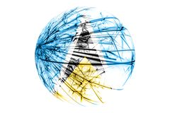 Abstract Saint Lucia sparkling flag, Christmas ball concept isolated on white background. Abstract Saint Lucia sparkling flag, Christmas ball concept isolated vector illustration