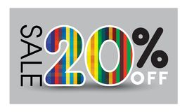 Abstract Sale baner. Sale 20% off. Vector illustration design on. Gray background Vector Illustration