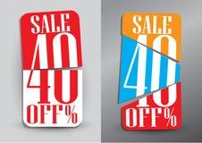 Abstract Sale baner. Sale 40% off. Vector illustration design on. White background royalty free illustration