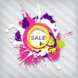 Abstract Sale Shopping Banner With Colourful Splashes Royalty Free Stock Photography