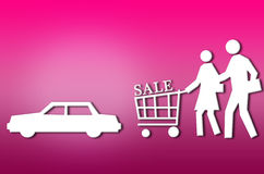 Abstract sale shopping couple Royalty Free Stock Photos