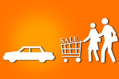 Abstract sale shopping couple Stock Image