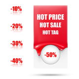 Abstract sale tag. Hot blank tag Stock Image