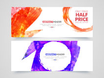 Abstract Sale web header or banner set. Stock Photography