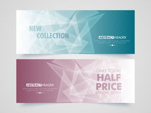 Abstract Sale web header or banner set. Royalty Free Stock Images