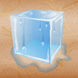 Abstract sand background with ice cube. Stock Images