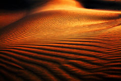 Abstract sand pattern. In Thar Desert, India Royalty Free Stock Photo