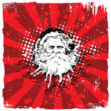 Abstract Santa Christmas Background Royalty Free Stock Images