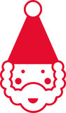 Abstract Santa Claus Stock Photo