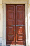 Abstract   santo macario rusty brass brown knocker  lombardy ita Royalty Free Stock Photo