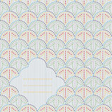 Abstract sashiko background with copy space for text. Stock Photos