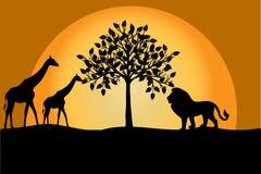 Abstract savana landscape stock illustration