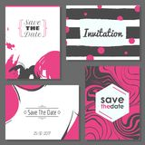 Abstract save the date card Stock Photo