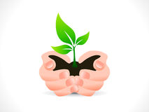 Abstract save plant icon Stock Image