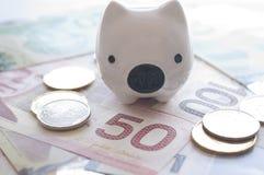 Abstract saving money concept. Royalty Free Stock Photos