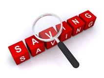 Abstract saving sign Royalty Free Stock Image