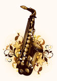 Abstract with saxophone Stock Images