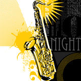 Abstract saxophone background Stock Photography