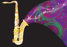 Abstract saxophone illustration Royalty Free Stock Images