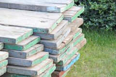 Abstract Scaffolding Boards Stock Image