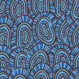 Abstract  scales seamless pattern Stock Photos