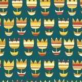 Abstract Scandinavian tulip flowers background royalty free illustration