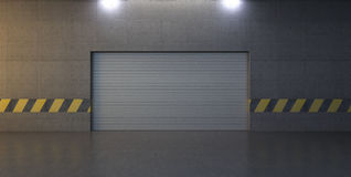 Abstract scene with garage door Stock Photos