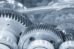 Abstract scene of the steel belt and pinion gear Stock Photos