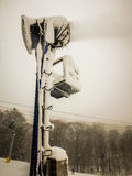 Abstract scenes at ski resort during snow storm Royalty Free Stock Photography