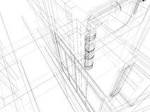 Abstract scetch architectural construction Royalty Free Stock Photos