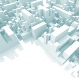 Abstract schematic light blue 3d cityscape Royalty Free Stock Images