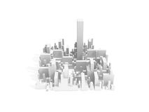 Abstract schematic white 3d cityscape quarter Stock Photos