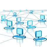 Abstract scheme of modern computer network Stock Photo