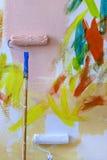 Abstract schilderend de muur Royalty-vrije Stock Foto's