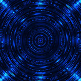 Abstract Sci Fi background. Abstract Sci Fi blue background. Vector Illustration Stock Photos