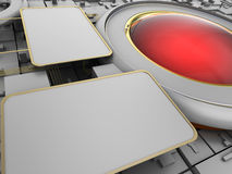 Abstract sci-fi background. 3d illustration of abstract sci-fi background Stock Image