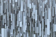 Abstract Sci-fi Gray 3d Geometric Background Texture From Levitating High Boxes. Abstract sci-fi gray 3d geometric background texture design pattern from high Stock Photography