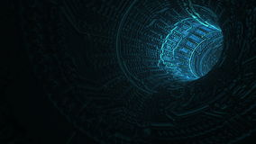Abstract sci fi tunnel stock footage