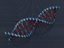 Abstract science background with DNA strands. 3D. Rendering Royalty Free Stock Photography