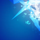 Abstract science background illustration Stock Photo
