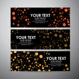 Abstract Science background with molecules. Vector banners set background. Royalty Free Stock Image
